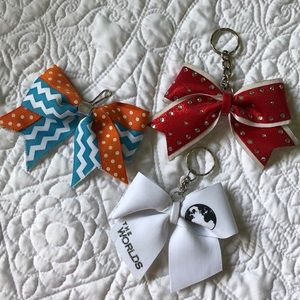 Cheer Bow Keychains